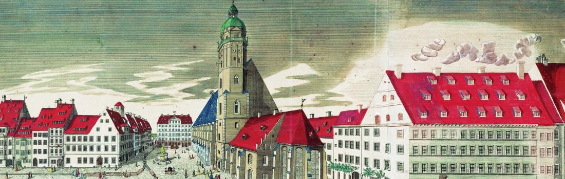 Der Thomaskirchhof in Leipzig (1749)