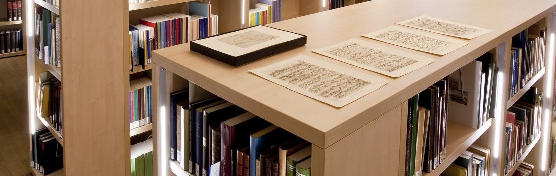 Blick in den Lesesaal der Bibliothek